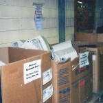 NVCC is throwing away boxes of computers.