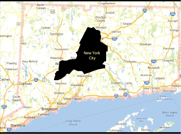 Hartford is a small orange compared to the Big Apple